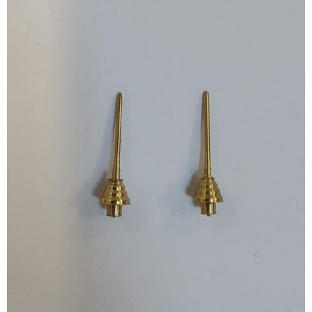 2 brass roof antennas for miniature car - 1:43 - CPC Production