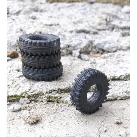 Flexible tires Ø21 x 6.60mm - Set of 4