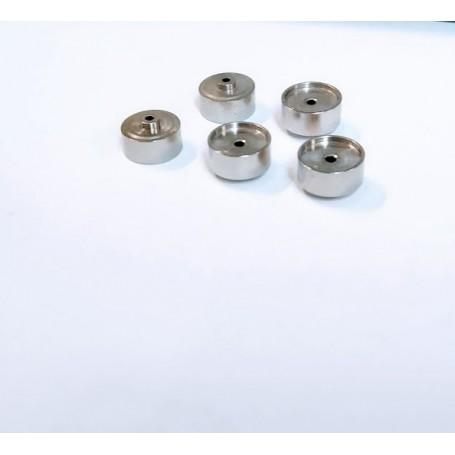 Set of 5 brass rims + nickelting Ø10 x 5.90 - CPC Production