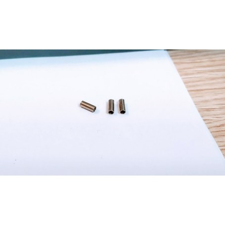 Exhaust exit Ø2 x 5 with brass pre-hole - Set of 4 - CPC