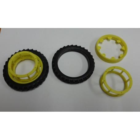 Rear narrow wheel coupling – Yellow – 1:32 – X4