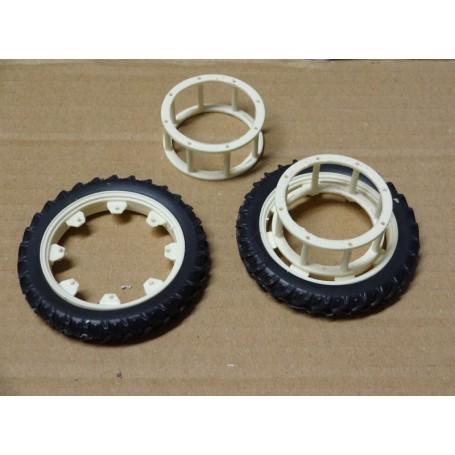 Rear narrow wheel coupling – White – 1:32 – X4