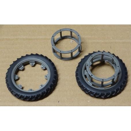 Rear narrow wheel coupling – Grey – 1:32 – X4