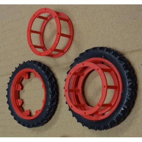 Rear narrow wheel coupling – Red – 1:32 – X4