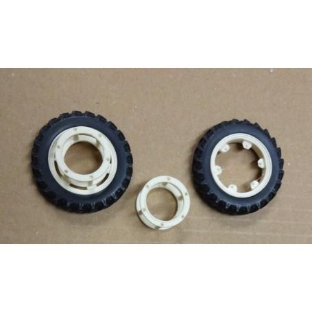 Narrow front wheel coupling – White – 1:32 – X4