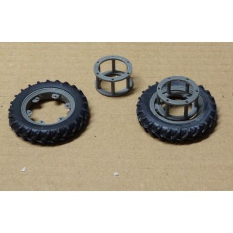 Narrow front wheel coupling – Grey – 1:32 – X4