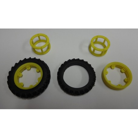 Narrow front wheel coupling – Yellow – 1:32 – X4