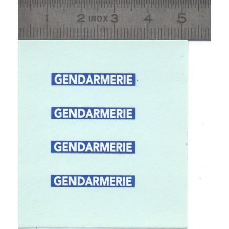Décalcomanie de la GENDARMERIE - ECH. 1:43 - Lot of 4