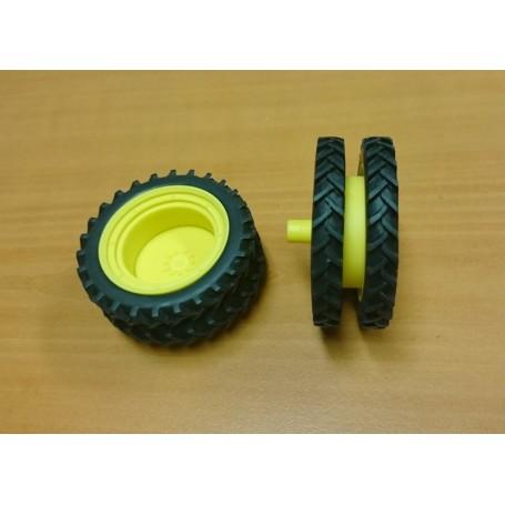 Rear twin kit - 60 mm – Yellow – 1:32