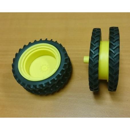 Rear twin kit – 66 mm – Yellow – 1:32