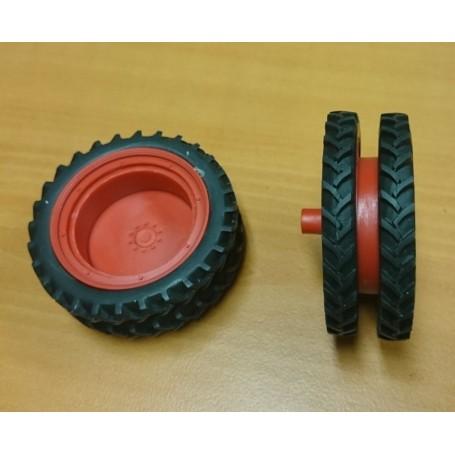 Rear twin kit – 66 mm – Red – 1:32