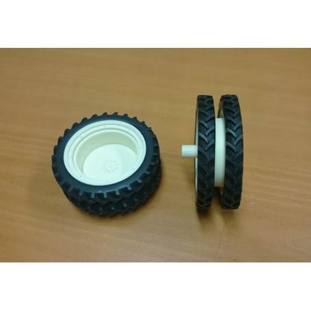 Rear twin kit – 66 mm – White – 1:32
