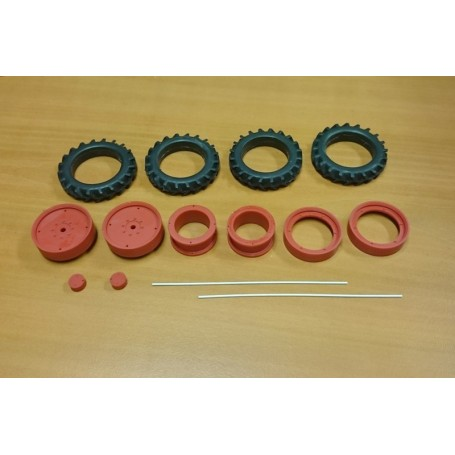 Front twin kit - 48 mm – Red – 1:32