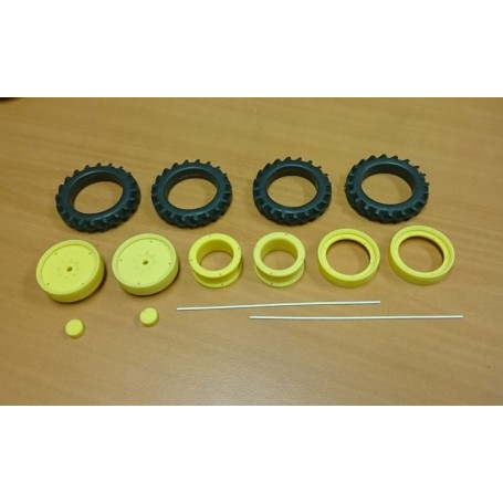 Front twin kit - 48 mm – Yellow – 1:32