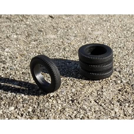 Flexible Resin Tires - Ø18mm Ep 3.50mm - ech 1:43 - by 4