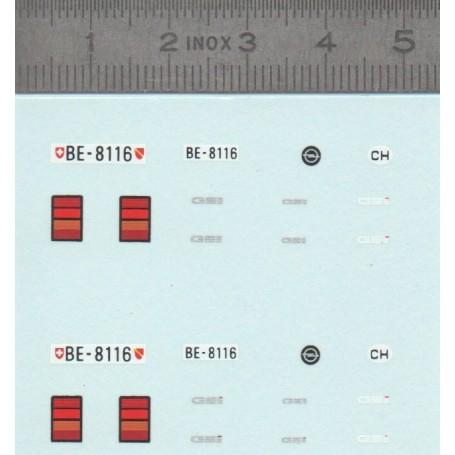 DecalComania - Opel GSI - Switzerland plates - ECH. 1:43 - X2
