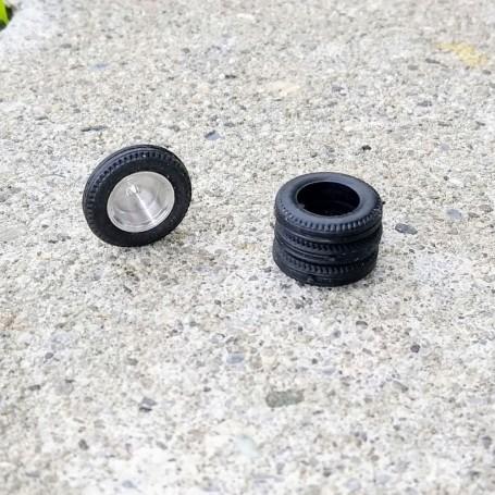 Flexible Resin Tires - Ø15mm Ep 3.50mm - Ech 1:43 - by 4