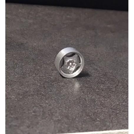 4 aluminum rims Ø 9.50 - Resin insert - ech 1:43