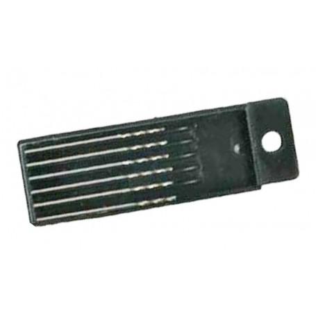 Set of 6 mini drills 0.6 mm