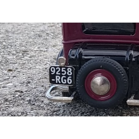 Plates + Backplate Backplate - Renault Monaquatre - ECH 1:43 - X2