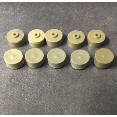 10 rims full of resin - 11.20 mm diameter - resin