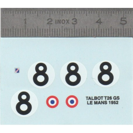 Decal - Talbot T26 GS Le Mans 1952 - ECH. 1:43