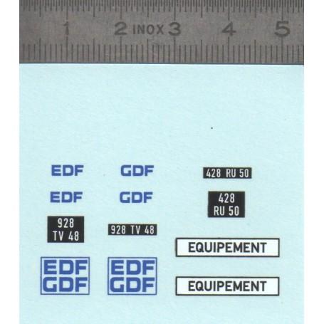 """Decal """"EDF GDF"""" 1 / 43th"""