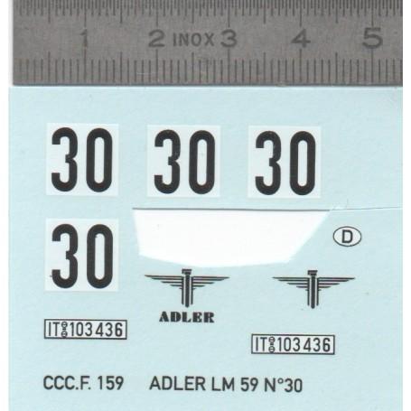 Decal - Adler LM 59 N ° 30 - ECH 1:43