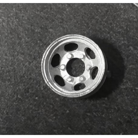 4 wheels 6 Nuts in White Metal - Ø11.50 mm