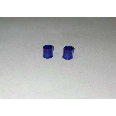 Blue round gyrophares - ech. 1/43 - Ø3.70 H.4.20mm - by 2