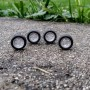4 complete wheels - Ø14 mm - ech. 1:43 - White Metal
