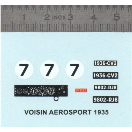 Decal - Voisin Aerosport 1935 N ° 7 - ECH 1:43