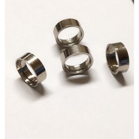 Hollow rims - chrome brass - Ø10 x 3.50 mm - CPC - X4