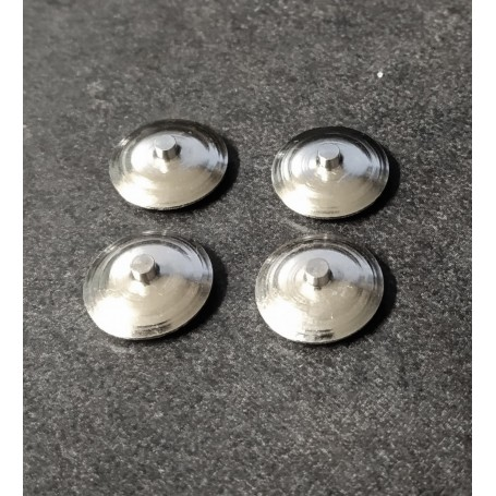 Brass inserts - Ø 11 mm - ech. 1:43 - Chrome treatment - CPC