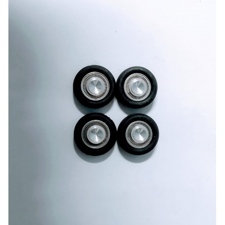 4 complete wheels in aluminum and photod cutting - Opel - ech. 1:43