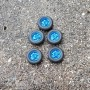 Full blue wheels - Ø 15.40mm - ech. 1:43