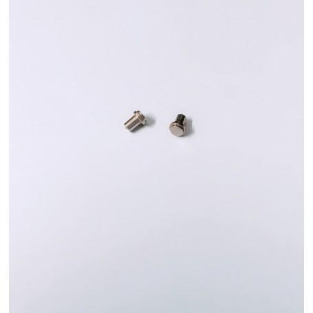2 tank caps - ech 1:43 - brass + nickel