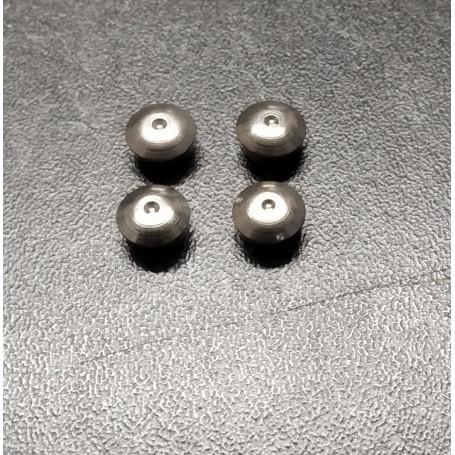 4 chrome brass inserts - Ø 7mm mm - CPC Production