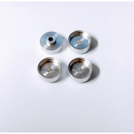 4 aluminum wheels Ø 9.50 x 4.50mm - ech 1:43 - CPC Production