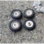 4 complete wheels - Ø 16mm - ech. 1:43 - White Metal