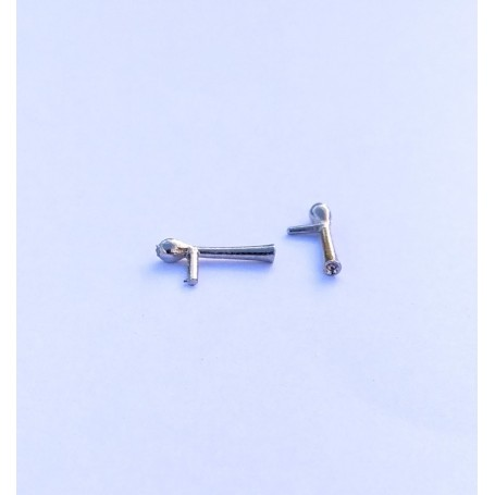 2 Klaxes in White Metal - ech 1:43 - about 10.30 mm