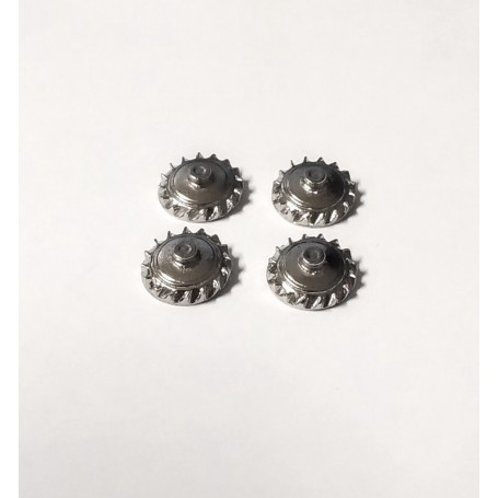 4 inserts for bugatti - White Metal chrome - ech 1:43
