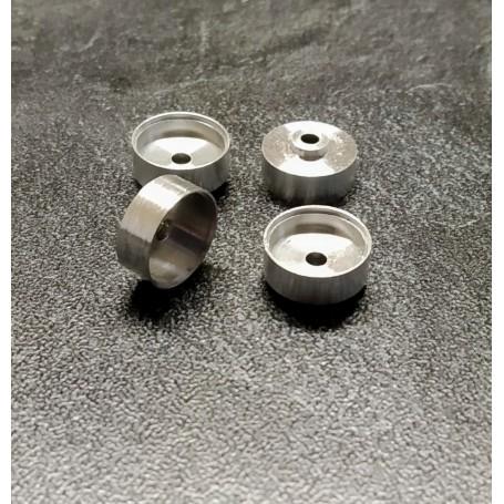 4 aluminum rims Ø 10.20 x 5mm - ech 1:43 - CPC Production