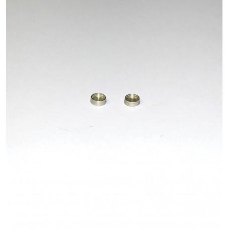 2 headlamps Ø3 chromed brass - ech. 1:43