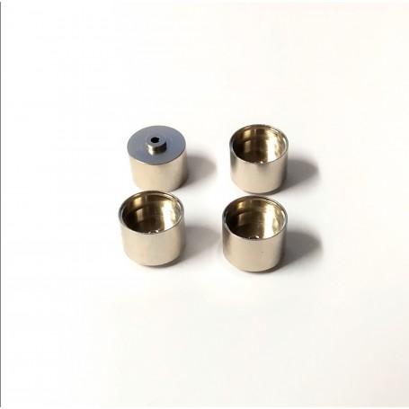 4 chrome brass rims Ø 10.20 x 8mm - ech 1:43 - CPC Production