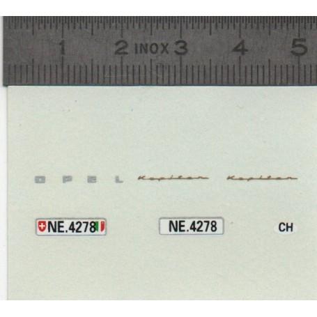 DecalComanie - OPEL - Switzerland Plates - ECH 1:43