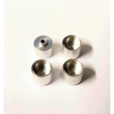 4 aluminum rims Ø 9.50 x 8.50 mm - ECH 1:43 - CPC Production