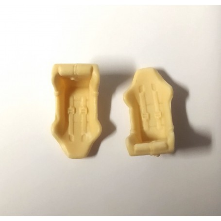 2 baquet seats - resin to paint - 1:43