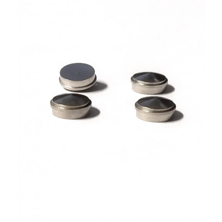 4 nickel-plated brass inserts - Ø 6mm - CPC Production