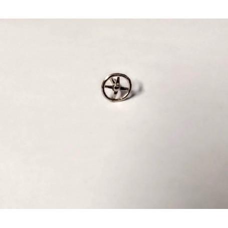 Steering Wheel Ø10.50 mm - White Metal - Ech 1:43